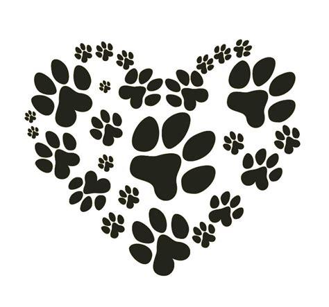 puppy paw 17 best ideas about silhouette on pawprint pet scanning and paw