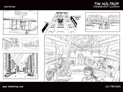 Architecture Design Storyboard Tim Holtrop Storyboard Artist Illustrator Architectural