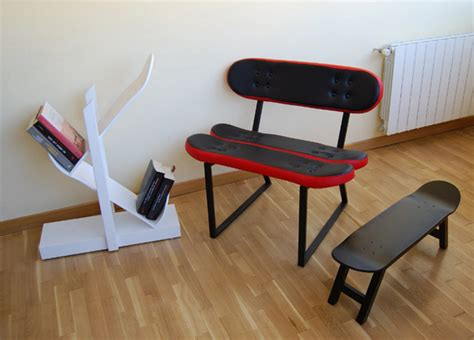 cool furniture ideas with skateboard style from skate home