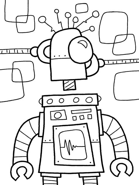 printable robot coloring pages  getdrawings