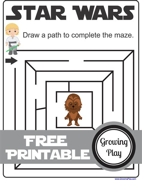 printable star wars maze star wars mazes games and activities growing play