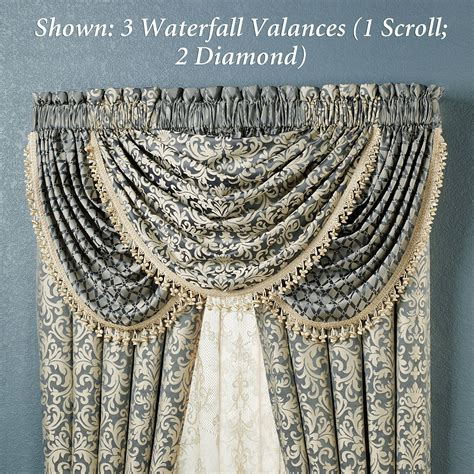 waterfall drapes sterling waterfall valances