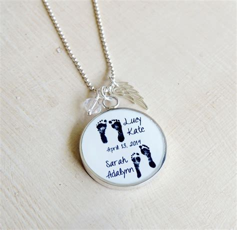 baby necklace baby footprint necklace s necklace baby