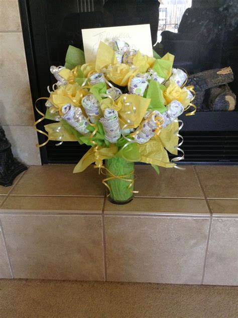 diy baby flower bouquet baby shower gift i made