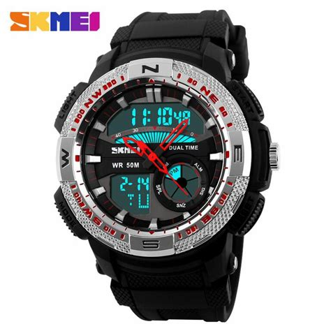 Jam Tangan Anak Wanita Original Casio Skmei Baby G Model Anti Air jual jam tangan pria skmei dual time casio sport led original ad1109