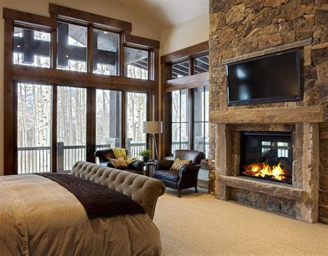 20 amazing tv above fireplace design ideas decoholic 20 beautiful bedrooms with stone fireplace designs