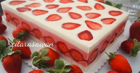 Loyang Pudding Tipe 5 resepi strawberry snow pudding resipi citarasawan