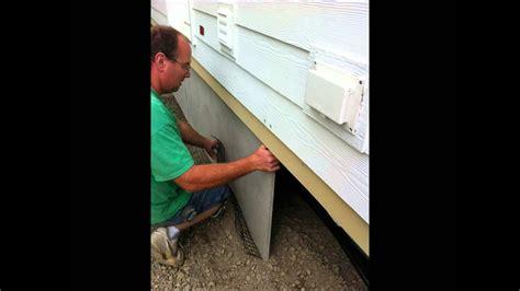 duraskirt panel installation mobile home skirting