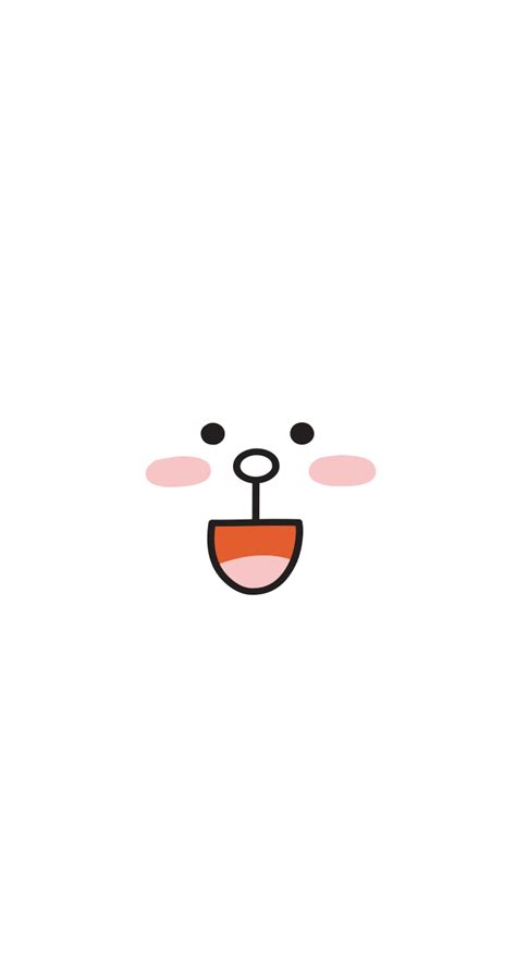 wallpaper cute line download line cony 744 x 1392 parallax wallpapers