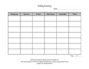 printable clothing inventory form free printable