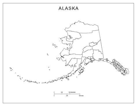 printable map alaska alaska blank map