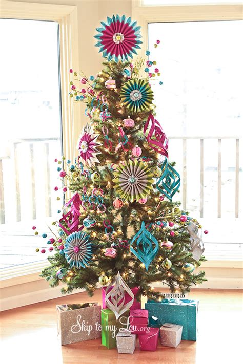 picture of trees decorated michael s tree challenge how to make handmade