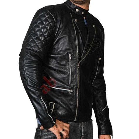 motorcycle jackets brando black men s motorcycle leather jacket black