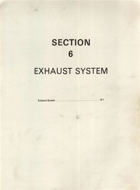 leyland car owners technical parts manual exhaust