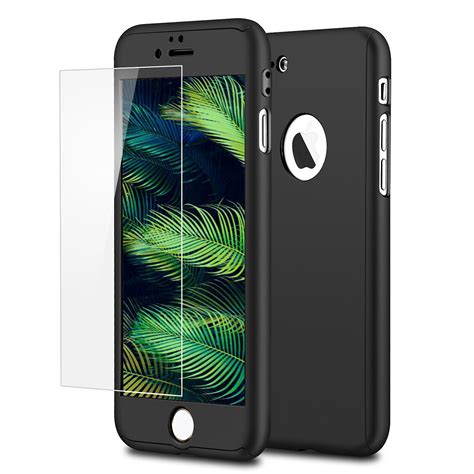 Iphone 7 Hardcase for apple iphone 7 7 plus 360 protection tempered glass cover ebay