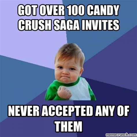 Candy Meme - success kid candy crush