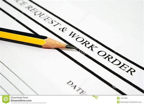 work order royalty free stock images image 14912569