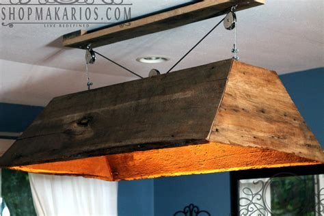 kitchen hanging lights table barn wood light hanging light table light kitchen by