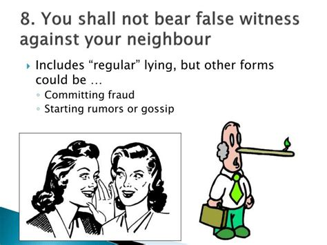 Meaning Of You Shall Not Bear False Witness Picture And Images