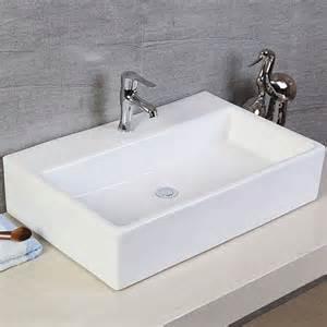 Above Counter Kitchen Sinks Rectangle Bathroom Ceramic Above Counter Basin Kitchen Porcelain Vessel Sink Ebay