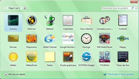 gadget de bureau windows 8 pc astuces 10 gadgets pour windows vista
