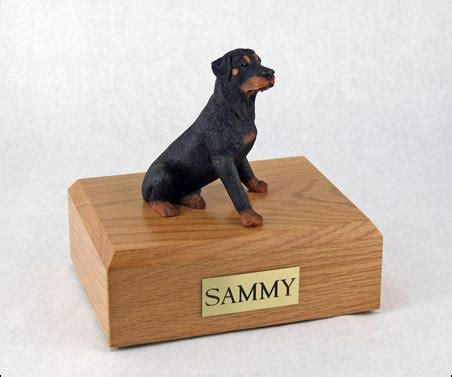 rottweiler urn rottweiler black sitting figurine urn memorial urns