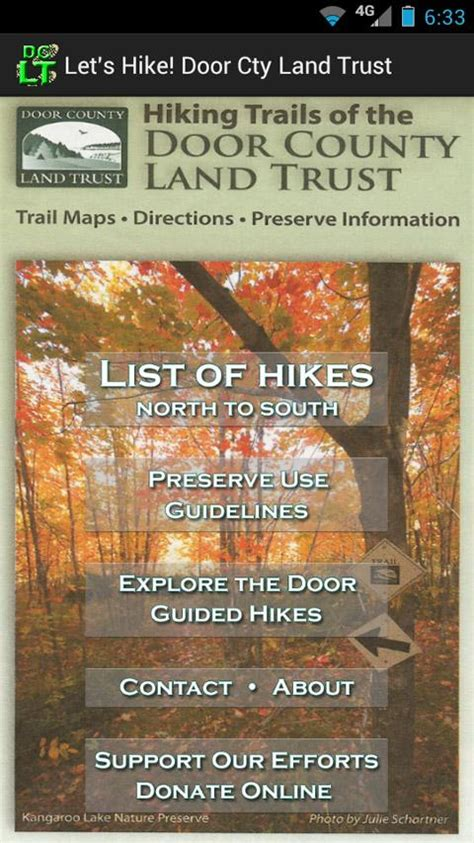 door county land trust hikes android apps on play
