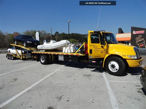 flat bed tow truck 2005 international 4300 dt466 flatbed tow truck