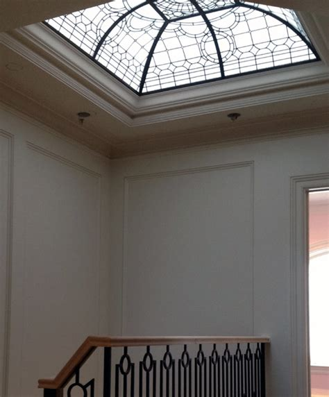 decorative leaded glass ceiling dome transitional