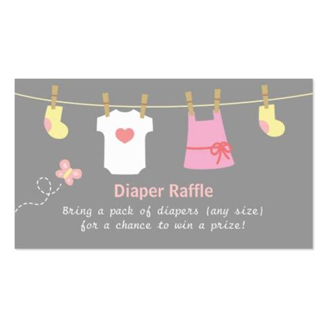 girl baby shower clothes diaper raffle tickets double