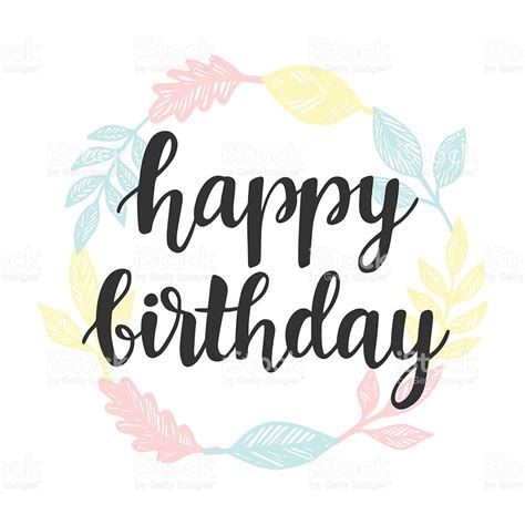 happy birthday art design happy birthday greeting card design template with cute