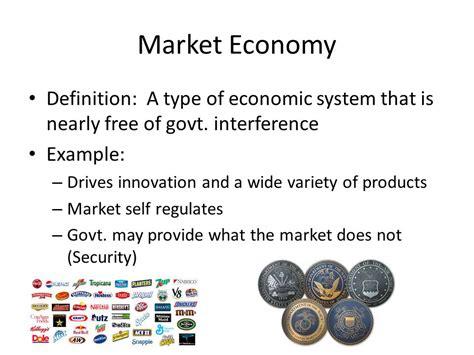 exle of market economy economics semester review ppt