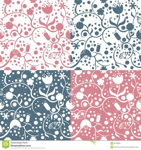 different pattern types contours of different fishes vector illustration
