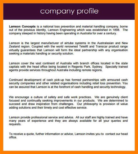 Sle Company Profile Template Pdf by Sle Company Profile Template Pdf Choice Image