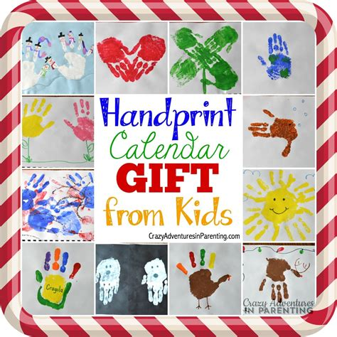 calendars for children to make handprint calendar 15 gift ideas can make