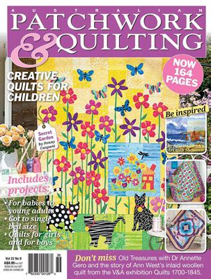 Australian Patchwork And Quilting Magazine - allagai waves in australian patchwork quilting