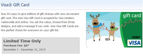 Visa Gift Card Without Fee - aaa is selling visa gift cards without a fee in some areas frequent miler