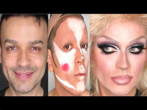 tutorial makeup transformation drag queen makeup transformation tutorial youtube