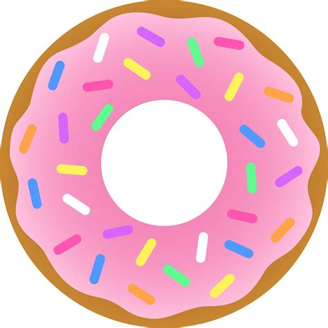 Doughnuts Clipart strawberry donut with sprinkles free clip