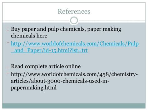 Chemicals Used In Paper - chemistry of papermaking around 3000 chemicals used in