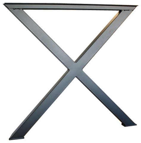 flat black x metal table legs set diy build your own