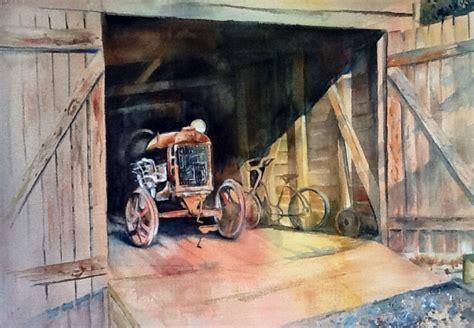 Open The Barn Door Watercolors By Marian Open The Barn Door