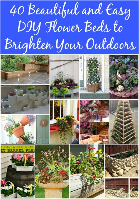 diy flower bed 40 beautiful and easy diy flower beds to brighten your outdoors diy crafts