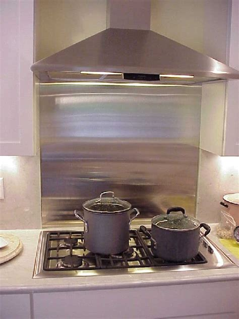 stainless steel backsplashes and wall panels