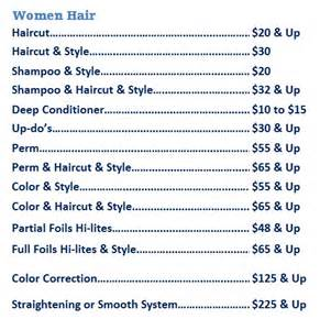 jcpenney hair salon price list hair salon price list images