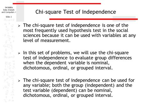 chi test chi square test of independence ppt