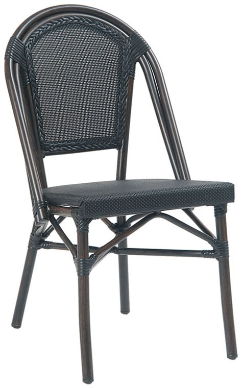 bamboo chair black label aluminum bamboo patio chair with black rattan