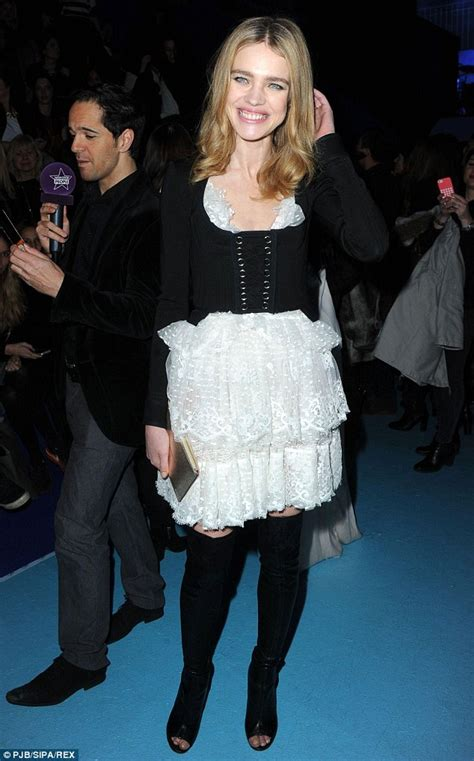 Teh Diet Etham vodianova models racy basque and frilly skirt at