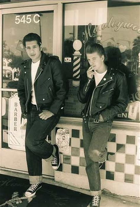 1950s greaser boys 1950s greasers styles trends history pictures