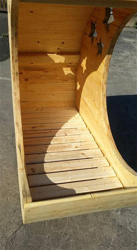 Diy Moon Shaped Cradle 1 - moon shaped pallet baby cradle 99 pallets